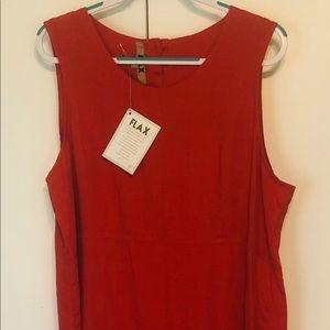 FLAX NWT Sleeveless Dress, Sz L, Linen